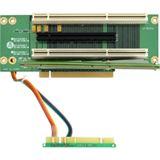 Chieftec PCI-Express/PCI-X Riser Karte 2U RC2-E16X2R-4