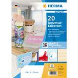 HERMA HOME Universal-Etiketten, 99,1 x 139,0 mm, weiß