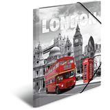 """HERMA Eckspannermappe """"Trendmetropolen - London"""", PP, A3"""