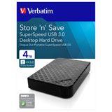 "4000GB Verbatim Store n Save 47685 3.5"" (8.9cm) USB 2.0 / USB 3.0 schwarz"