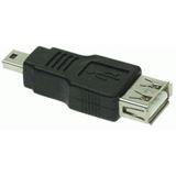 Good Connections Adapter Anschlusskabel USB 2.0 USB A Buchse auf USB miniB Stecker Schwarz