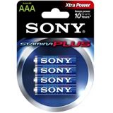 Sony Stamina Plus LR03 Alkaline AAA Micro Batterie 1.5 V 4er Pack