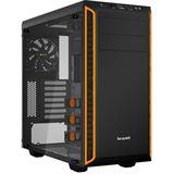 be quiet! Pure Base 600 gedämmt mit Sichtfenster Midi Tower ohne Netzteil schwarz/orange