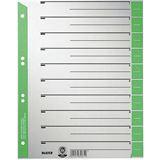 Leitz Trennblätter, A4 Überbreite, Kraftkarton 230g/qm, grün