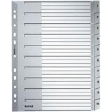 Leitz Kunststoff-Register, Zahlen, A4 Überbreite, 1-10, grau