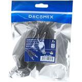 (€1,65*/1m) 3.00m Dacomex Audio Anschlusskabel 3.5mm Klinke Stecker Stereo auf 3.5mm Klinke Stecker Stereo Schwarz