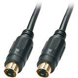 (€1,10*/1m) 10.00m Lindy S-VHS Anschlusskabel Mini-DIN 4pol Stecker auf Mini-DIN 4pol Stecker Schwarz geschirmt