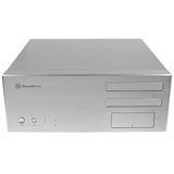 Silverstone La Scala LC17 Desktop ohne Netzteil silber