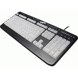 Revoltec XL2 Lightboard Tastatur Schwarz Deutsch PS2/USB