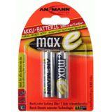 ANSMANN maxE AA / Mignon Nickel-Metall-Hydrid 2100 mAh 2er Pack