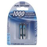 ANSMANN HR03 Nickel-Metall-Hydrid AAA Micro Akku 950 mAh 2er Pack