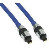 (€4,45*/1m) 2.00m InLine Audio Anschlusskabel Premium-Line Toslink Stecker auf Toslink Stecker Blau