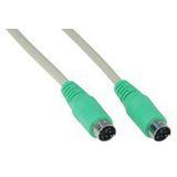 (€2,45*/1m) 2.00m InLine PS/2 Anschlusskabel PS/2 Stecker auf PS/2 Stecker Grün