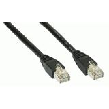 (€7,80*/1m) 0.50m InLine Cat. 5e Patchkabel FTP RJ45 Stecker auf RJ45 Stecker Schwarz