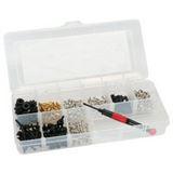 InLine Schraubenset mit Schraubendreher 411-teilig Werkzeug für Gehäuse (77786)