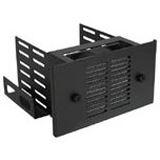 """InLine 3x 3,5"""" HDD inkl. 80mm Lüfter schwarz Festplatteneinschub für 5,25"""" (33343B)"""