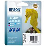 Epson Tinte C13T048C4010 schwarz, cyan, magenta