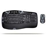 Logitech Cordless Desktop Wave Tastatur+Maus Schwarz Deutsch USB