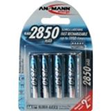 ANSMANN HR6 Nickel-Metall-Hydrid AA Mignon Akku 2650 mAh 4er Pack