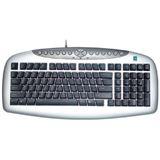 A4Tech KBS-21 Tastatur Schwarz/Silber Deutsch PS/2