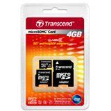 4 GB Transcend Standard microSDHC Class 6 Retail inkl. Adapter