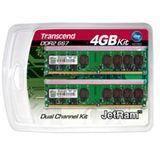 4GB Transcend JetRAM DDR2-667 DIMM CL5 Dual Kit