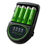 GP Batteries Akku Ladegerät Lader AR02 inkl. 2x AA-Akkus