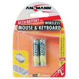 ANSMANN maxE Wireless HR03 Nickel-Metall-Hydrid AAA Micro Akku 800 mAh 2er Pack