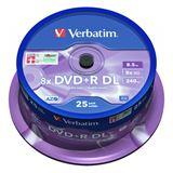 Verbatim DVD+R DL 8.5 GB 25er Spindel (43757)