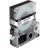 Epson C53S623402 Tape 6mm - Schwarz auf Weiß