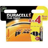 Duracell Plus Power AAA / Micro Alkaline 1.5 V 12er Pack