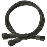 Nanoxia 30 cm schwarzes Y-Kabel für 3-Pin Molex (NX3PY30)