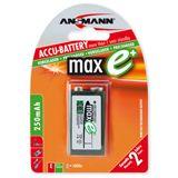 ANSMANN maxE 9V / E Block Nickel-Metall-Hydrid 9.0 V 1er Pack