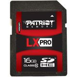 16 GB Patriot LX Pro Serie SDHC Class 10 Bulk