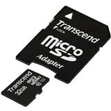 32 GB Transcend UHS-I microSDHC Class 10 Bulk inkl. Adapter auf SD
