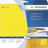 Herma 4466 gelb Universal-Etiketten 7.0x3.7 cm (20 Blatt (480 Etiketten))