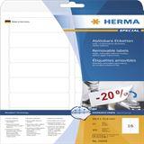 Herma 10009 ablösbar Universal-Etiketten 8.89x3.38 cm (25 Blatt (400 Etiketten))