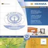 Herma 10823 Recycling Universal-Etiketten 7.0x3.6 cm (100 Blatt (2400 Etiketten))