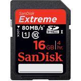 16 GB SanDisk Extreme 80MB/s SDHC UHS-I Retail