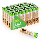 GP Batteries Super LR03 Alkaline AAA Micro Batterie 1.5 V 40er Pack