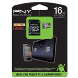 16 GB PNY Android microSDHC Class 10 Retail inkl. Adapter