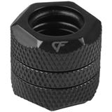Nanoxia Coolforce Fitting - Hard Tube Adapter gerade 2x 12mm schwarz