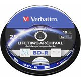 Verbatim M-DISC 25 GB bedruckbar 10er Spindel (43825)