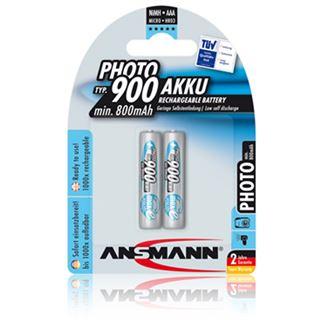 ANSMANN Photo HR03 Nickel-Metall-Hydrid AAA Micro Akku 900 mAh 2er Pack