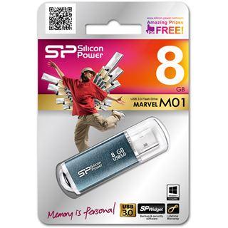 8 GB Silicon Power Marvel M01 blau USB 3.0