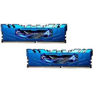16GB G.Skill RipJaws 4 blau DDR4-3000 DIMM CL15 Dual Kit