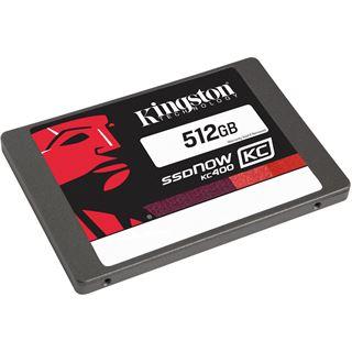 "512GB Kingston SSDNow KC400 2.5"" (6.4cm) SATA 6Gb/s MLC (SKC400S37/512G)"