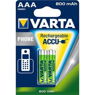 Varta Phone HA10 Nickel-Metall-Hydrid AAA Micro Akku 800 mAh 2er Pack