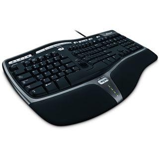 Microsoft Natural Ergonomic Keyboard 4000 USB Deutsch schwarz (kabelgebunden)