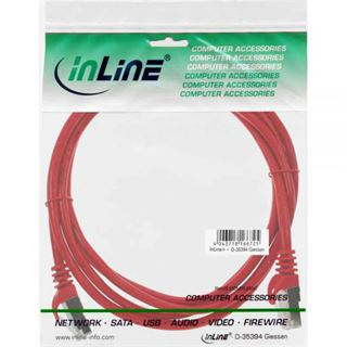 (€1,30*/1m) 3.00m InLine Cat. 5e Patchkabel SF/UTP RJ45 Stecker auf RJ45 Stecker Rot